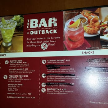 Outback steakhouse 21 photos steakhouse vancouver for Bar food vancouver