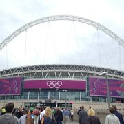 Wembley Stadium during Summer Olympics 2012.