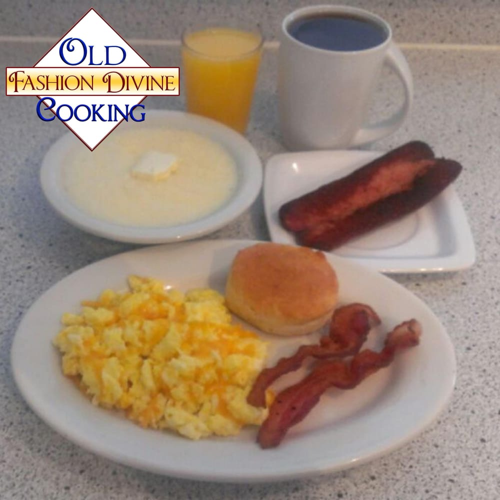 Maple Bourbon Bacon, Grits And Eggs Recipe — Dishmaps