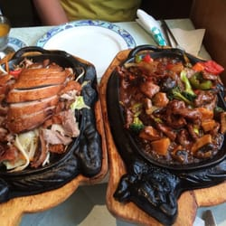 Leckeres essen - Ente und Rindfleisch…