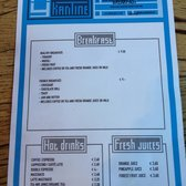 IJ-kantine - English Menu - Amsterdam, Noord-Holland, Niederlande