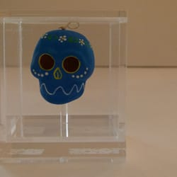 Mexican Skull in Perspex Case