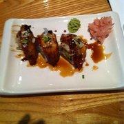 Dragon roll with yummy teriyaki eel