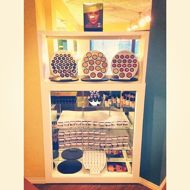 Our beautiful makeup display for glo minerals makeup wow - Christophe hair salon ...