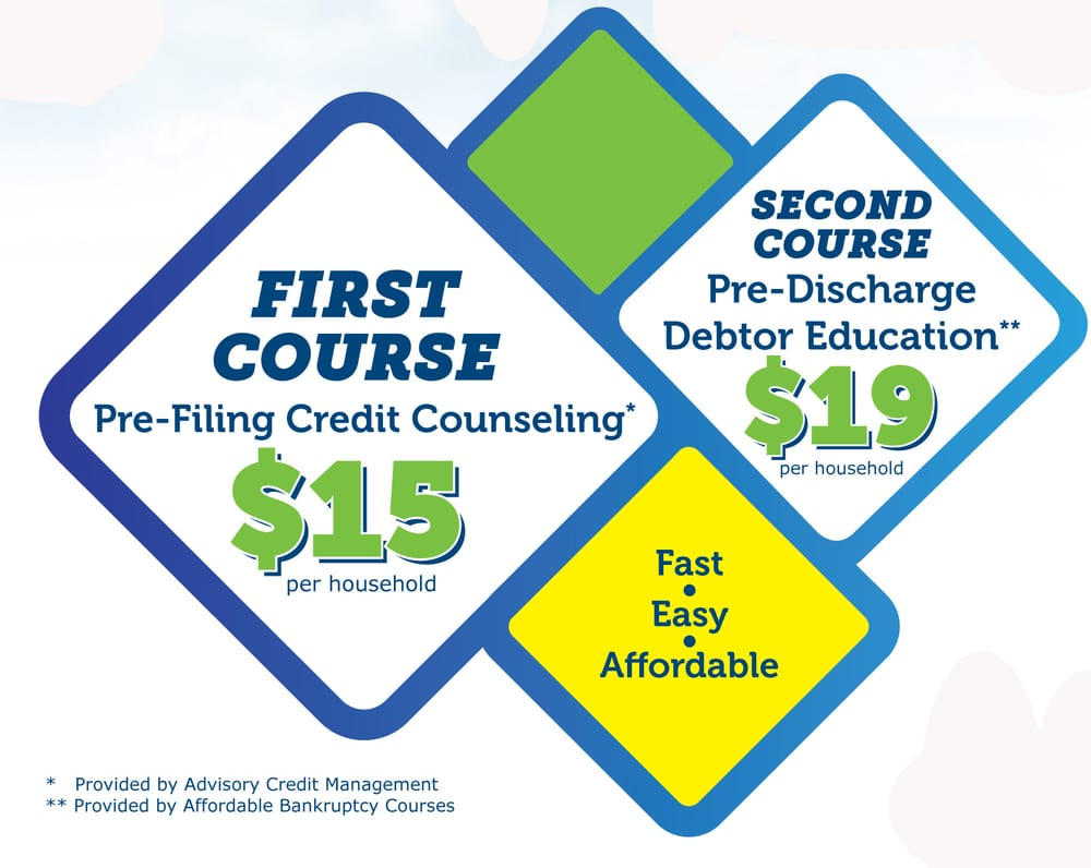 services forms bankruptcy credit counseling debtor education courses
