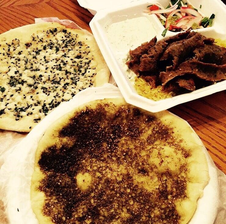 Lahmajeen Cheese And Za Atar And Gyro Yelp