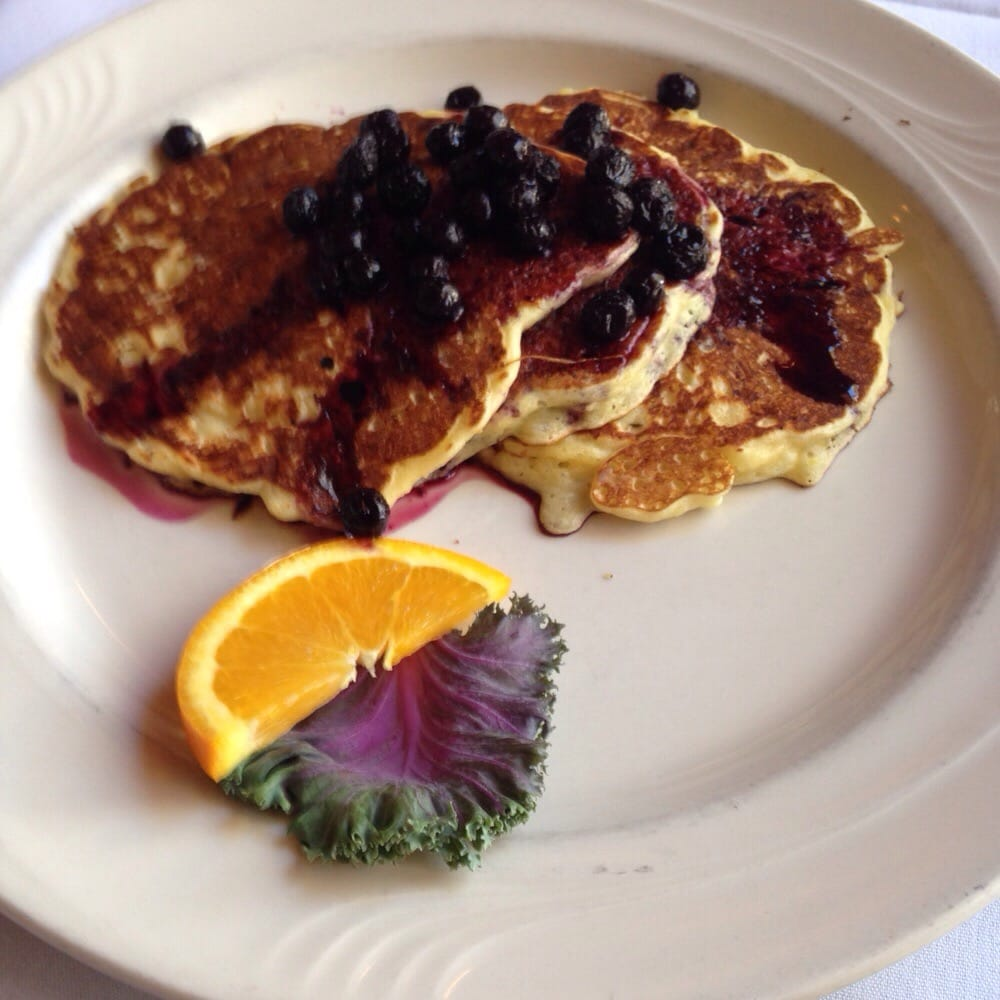 ... Blueberry cottage cheese pancakes from the lodge restaurant for
