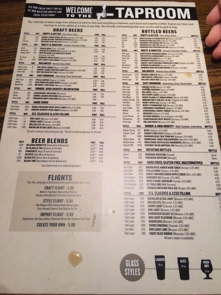 Old Chicago Restaurants Menu