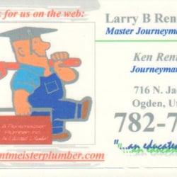 a rentmeister plumber ogden ut yelp