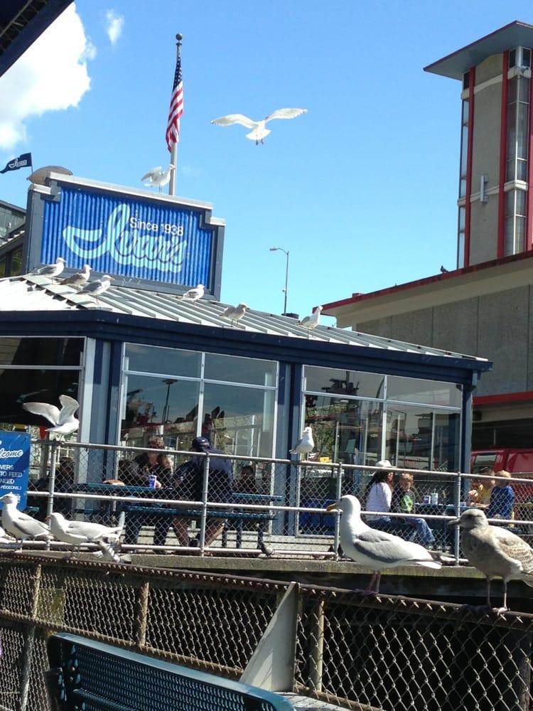 Ivar s pier 54 fish bar 160 photos seafood for Fish restaurant seattle