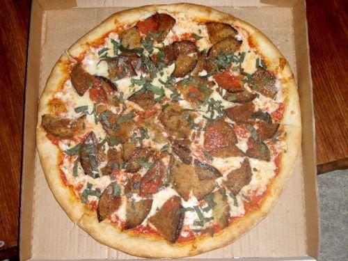 Arianna's Grill - Richmond, VA, United States. Eggplant Parmesan Pizza
