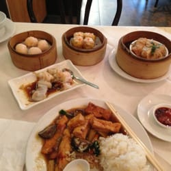 Dim sum , honey pork w bean curd on rice…