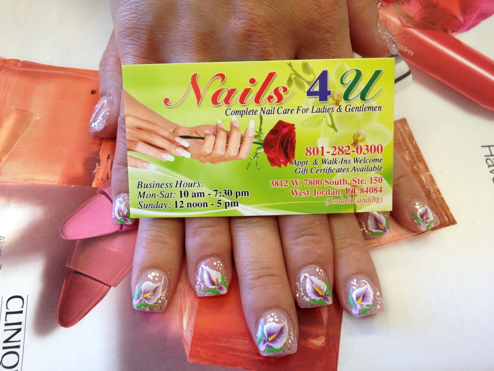 Nails 4 U - West Jordan, UT, United States. hand designs only at Nails