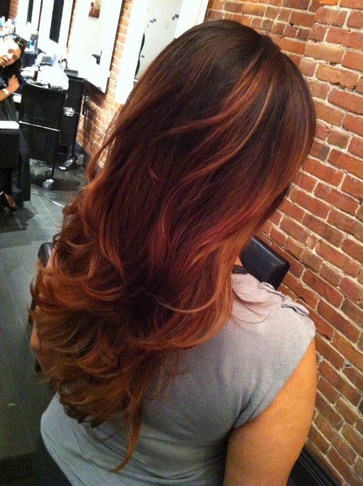 lloydcourthair of auburn ombre hair color dagpresscom