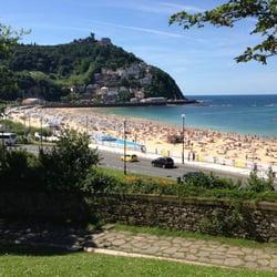 Monte Igueldo depuis la plage