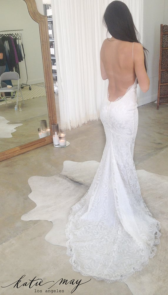 Wedding Dresses Los Angeles Yelp : A bride in her first fitting the princeville gown