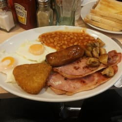 English breakfast served with coffee or…