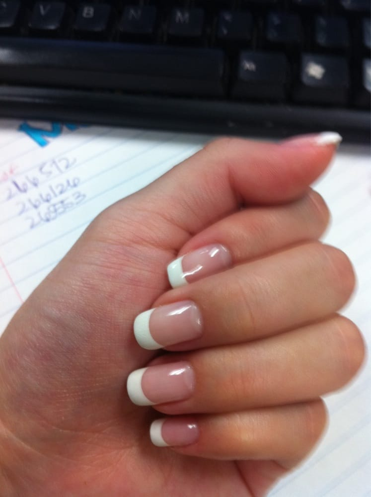 Pearl Nails - Rosemead, CA, United States. French tip gel manicure :)