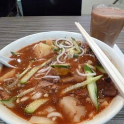 Penang Asam Laksa+Hot Milk Tea=£10