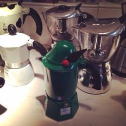 Cool green espresso maker!