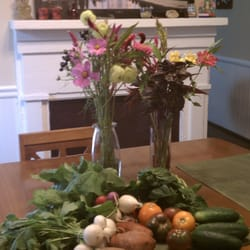 Riverfront Farmers' Market - everything you see on the table I got at the market in mid October - Wilmington, NC, Vereinigte Staaten