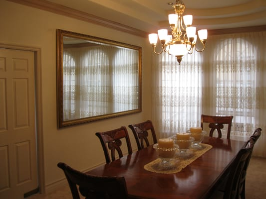 Large Dining Room Mirror Really Expands The Room 39 S Perceived Size Yelp