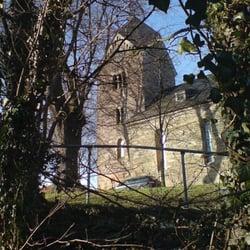ev Dorfkirche vom Meditationsweg aus