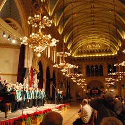 Xmas choir in Festsaal