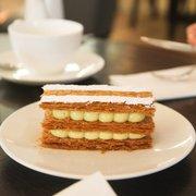 Vanilla millefeuille. Photo taken by…
