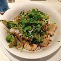 Asian stir fry vegetables with tofu