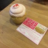 Patty's Cakes and Desserts - Cupcake and free flyer for next time. - Fullerton, CA, United States