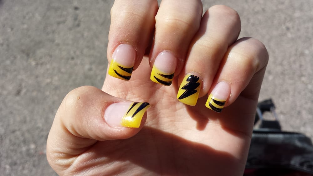Pikachu Acrylic Nails Pikachu Nails For my Pikachu