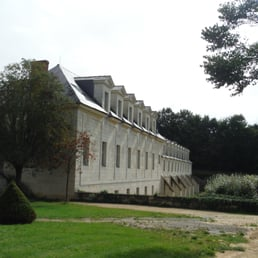 View of the back of the Hotel from the Abbaye kitchen gardens