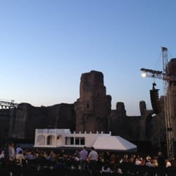 Taking in the opera Cavalleria Rusticana at the Baths of Caracalla.  Bravo!