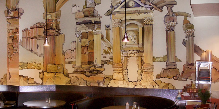 rudy s restaurant wall mural pictures to pin on pinterest restaurant wall murals