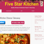 Five Stars Kitchen Chinese and Cantonese Takeaway
