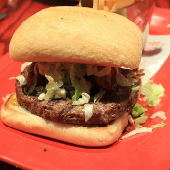 bacon blue cheese burger on focaccia bread bacon blue cheese burger on ...