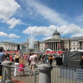 national gallery with pride parade happening in front