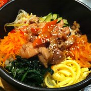 Bibimbap with chicken