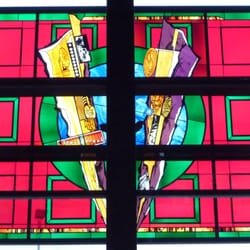 Our famous stain glass window