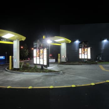 Mcdonalds drive thru window empty