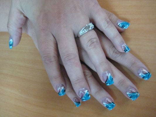 Vogue Nails Salon - Nail Art Design on Client Finger Nails - Englewood