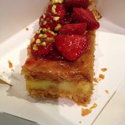 This picture is from PAUL in Paris France at Avenue champs élysées. Amazing pastry.