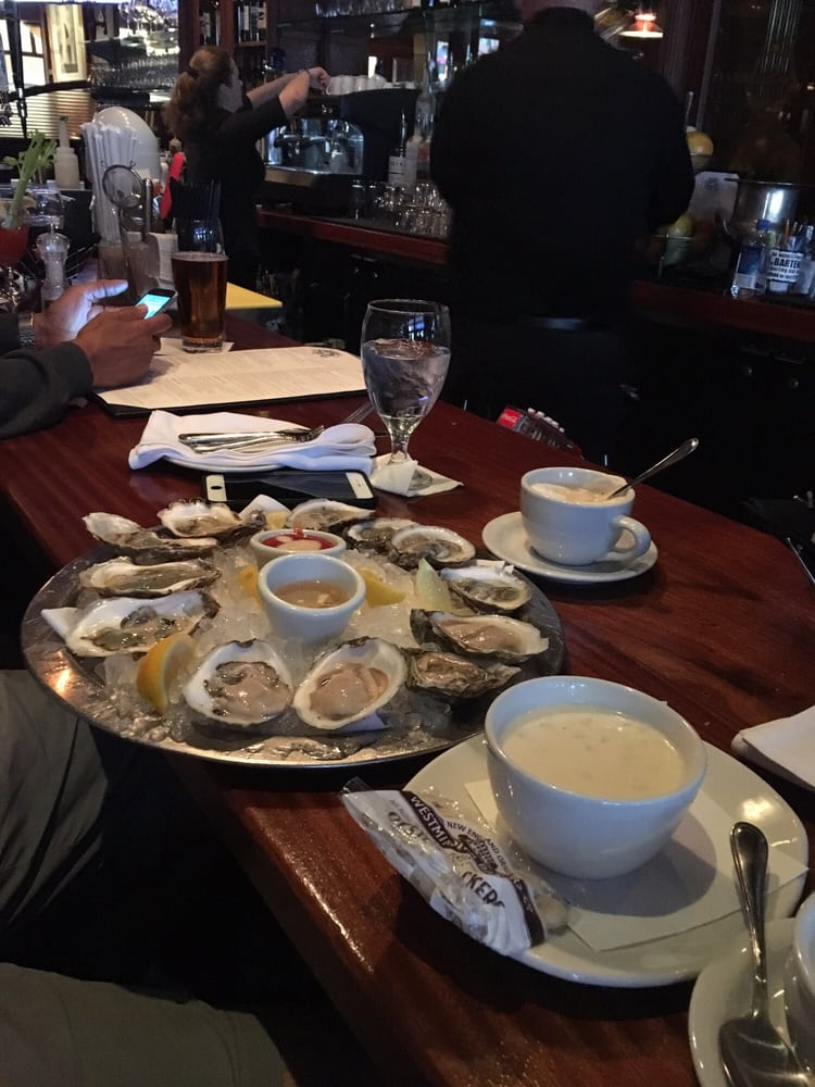 Oysters and chowder at the bar yelp for Atlantic fish boston