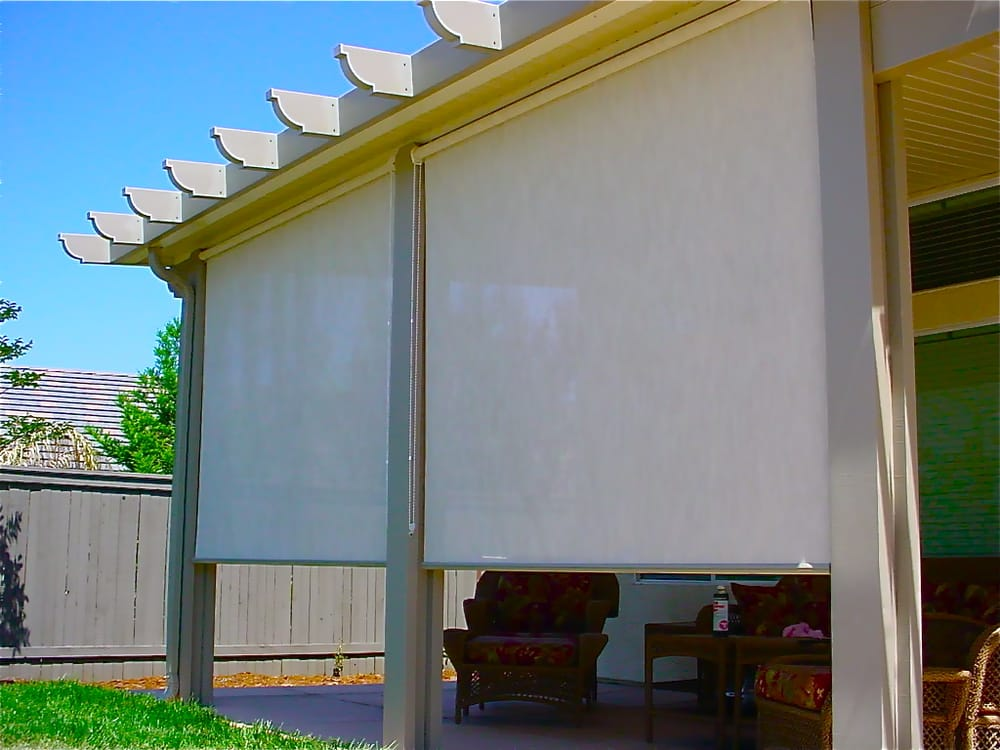 Roll Down Solar Screens Create A Wall Of Shade Instantly