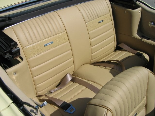 1966 mustang pony interior in custom vat dyed leather yelp. Black Bedroom Furniture Sets. Home Design Ideas
