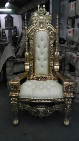 Gold Throne King And Queen Chair Rental Los Angeles For