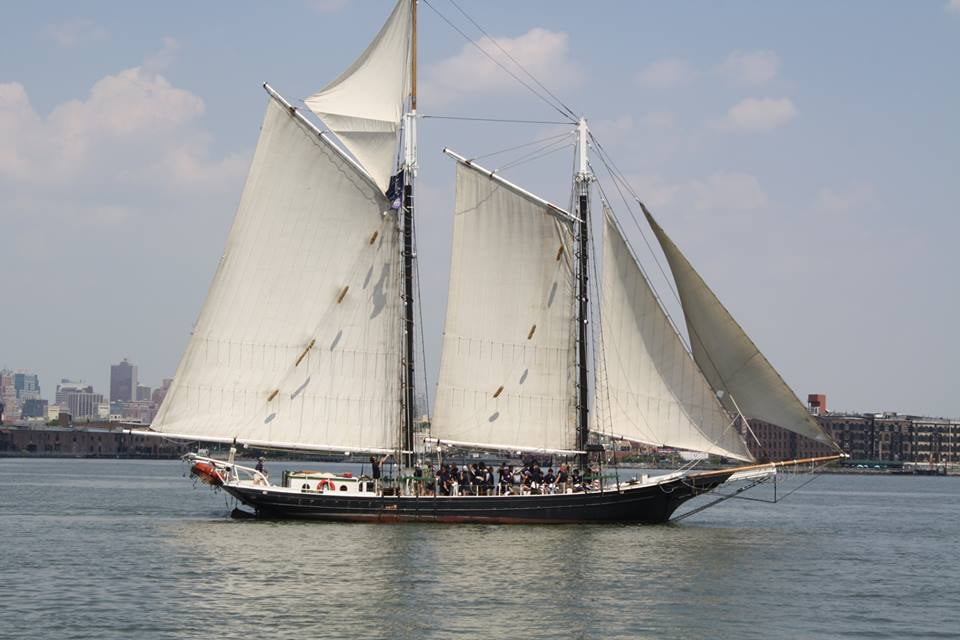 Schooner Pioneer - New York, NY, United States. Pioneer on a lovely sailing day!