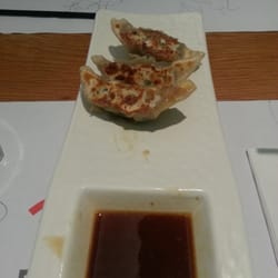 Gyoza (well, 3 of the 5 in the serving....we were too hungry too wait)