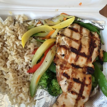 ... States. grilled chicken with steamed vegetables & jasmine brown rice